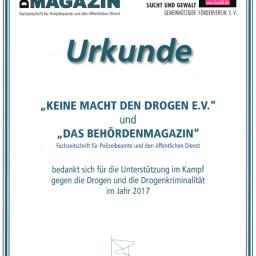 Spendenurkunde Topline GmbH Dittenheim